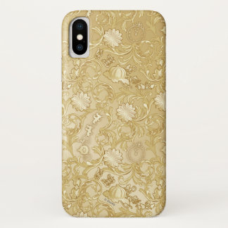 Cinderella Ornate Golden Pattern iPhone X Case