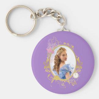 Cinderella Ornately Framed Basic Round Button Keychain