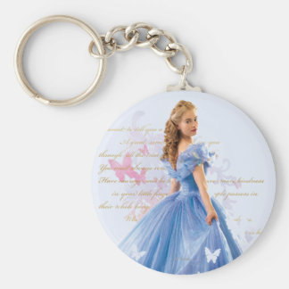 Cinderella Photo With Letter Keychain