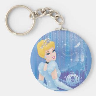 Cinderella Princess Basic Round Button Keychain