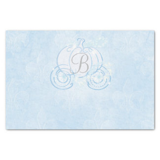 Cinderella Pumpkin Carriage Monogram Initial Tissue Paper