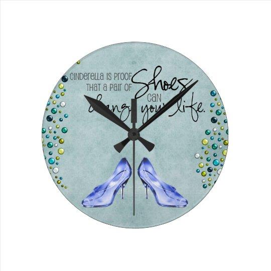 Cinderella Shoes Clock