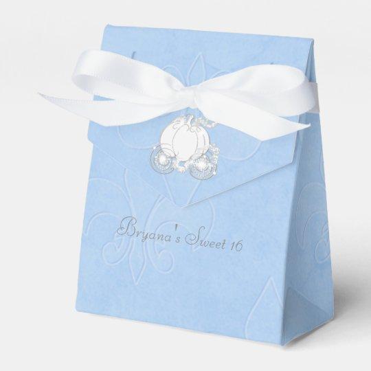 Cinderella Silver Carriage Blue Party Favour Boxes Favor Boxes