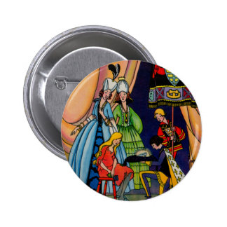 Cinderella, the prince and the glass slipper 2 inch round button
