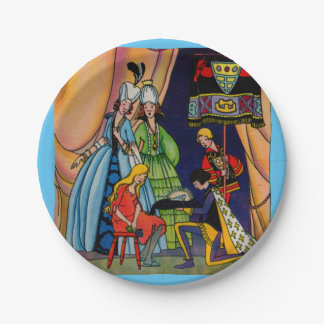 Cinderella, the prince and the glass slipper 7 inch paper plate