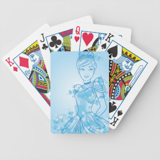 Cinderella | Watercolor Outline Bicycle Playing Cards