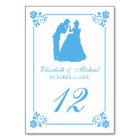 Cinderella Wedding | Silhouette Table Number