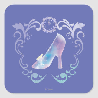 Cinderella's Glass Slipper Square Sticker