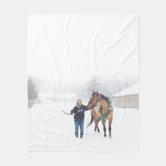 Cindy and Irish Fleece Blanket - Design B