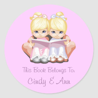Cindy & Ann Book Label Sticker