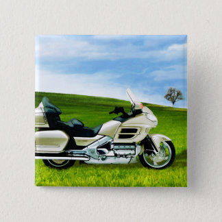 Cindy Johnson Motorcycle 2 Inch Square Button