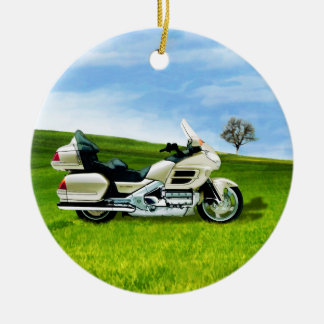 Cindy Johnson Motorcycle Ceramic Ornament