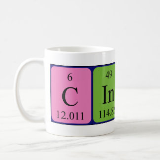 Cindy periodic table name mug