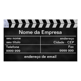 cinema clapperboard pack of standard business cards