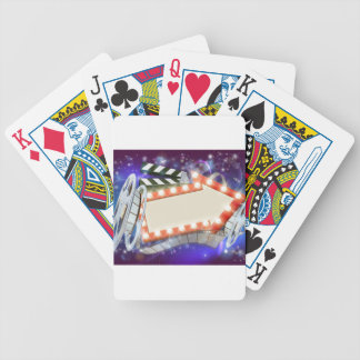 Cinema Film Arrow Sign Abstract Background Bicycle Playing Cards