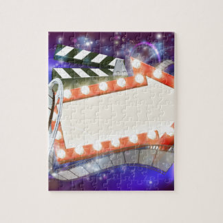 Cinema Film Arrow Sign Abstract Background Jigsaw Puzzle