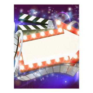 Cinema Film Arrow Sign Abstract Background Letterhead
