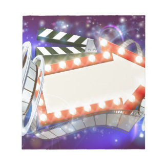 Cinema Film Arrow Sign Abstract Background Notepad