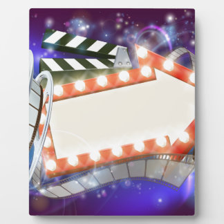 Cinema Film Arrow Sign Abstract Background Plaque