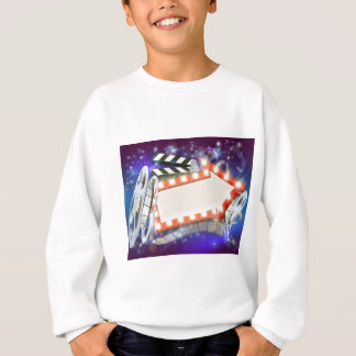 Cinema Film Arrow Sign Abstract Background Sweatshirt