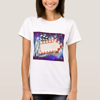 Cinema Film Arrow Sign Abstract Background T-Shirt
