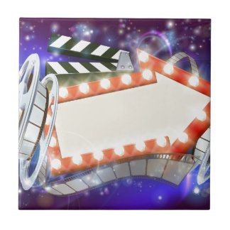 Cinema Film Arrow Sign Abstract Background Tile