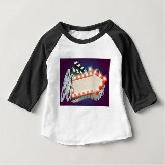 Cinema Film Arrow Sign Background Baby T-Shirt