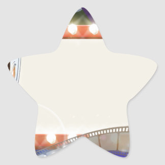 Cinema Film Sign Background Star Sticker