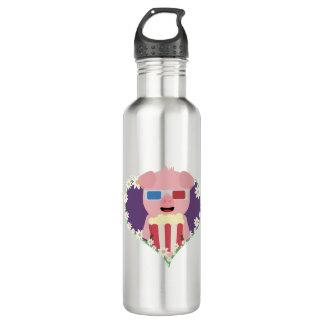 Cinema Pig with flower heart Zvf1w 710 Ml Water Bottle