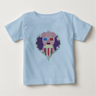 Cinema Pig with flower heart Zvf1w Baby T-Shirt