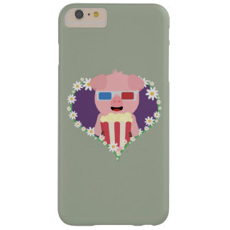 Cinema Pig with flower heart Zvf1w Barely There iPhone 6 Plus Case