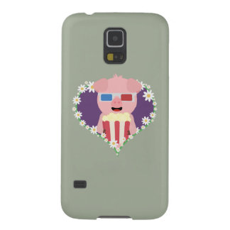 Cinema Pig with flower heart Zvf1w Case For Galaxy S5