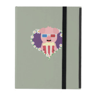 Cinema Pig with flower heart Zvf1w Cases For iPad