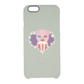 Cinema Pig with flower heart Zvf1w Clear iPhone 6/6S Case
