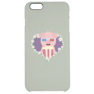 Cinema Pig with flower heart Zvf1w Clear iPhone 6 Plus Case