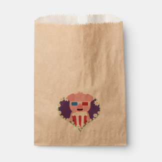 Cinema Pig with flower heart Zvf1w Favour Bag