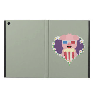 Cinema Pig with flower heart Zvf1w iPad Air Cover