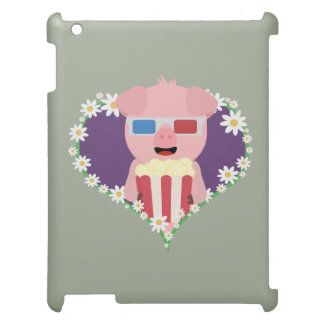 Cinema Pig with flower heart Zvf1w iPad Cases
