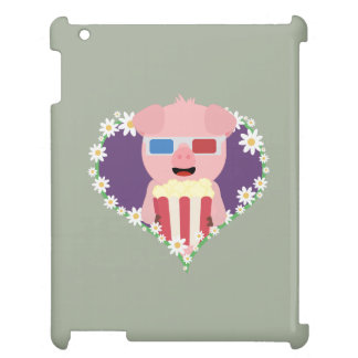 Cinema Pig with flower heart Zvf1w iPad Covers