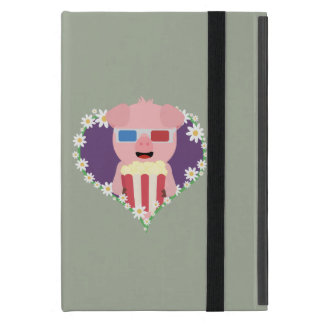 Cinema Pig with flower heart Zvf1w iPad Mini Case