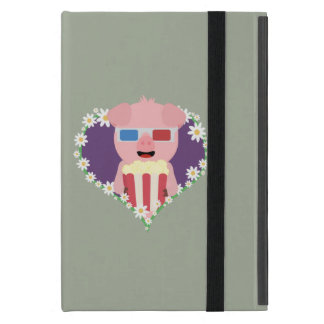 Cinema Pig with flower heart Zvf1w iPad Mini Cover