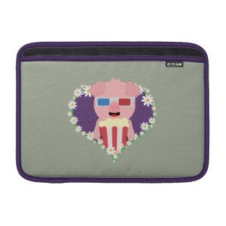 Cinema Pig with flower heart Zvf1w MacBook Air Sleeve