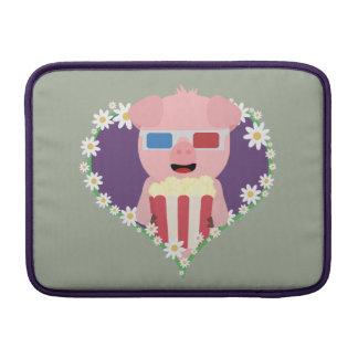 Cinema Pig with flower heart Zvf1w MacBook Sleeves