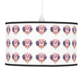 Cinema Pig with flower heart Zvf1w Pendant Lamp
