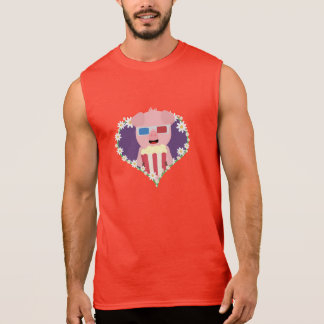 Cinema Pig with flower heart Zvf1w Sleeveless Shirt