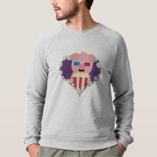 Cinema Pig with flower heart Zvf1w Sweatshirt