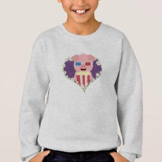 Cinema Pig with flower heart Zvf1w Sweatshirt