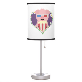 Cinema Pig with flower heart Zvf1w Table Lamp