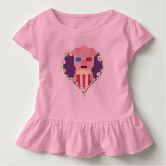 Cinema Pig with flower heart Zvf1w Toddler T-shirt