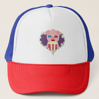 Cinema Pig with flower heart Zvf1w Trucker Hat